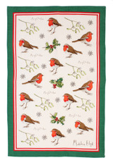 Madeline Floyd Robins & Holly  100% cotton tea towel from Ulster Weavers.