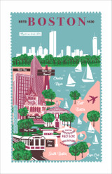 Boston 100% Cotton tea towel by Ulster Weavers.