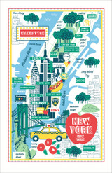 New York 100% Cotton tea towel by Ulster Weavers.