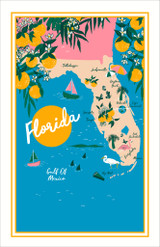 Florida 100% Cotton tea towel by Ulster Weavers.