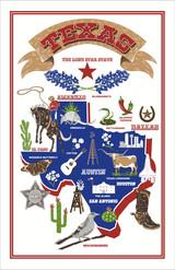 Texas 100% Cotton tea towel by Ulster Weavers.