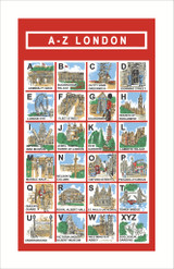 London A-Z 100% Cotton tea towel by Ulster Weavers.
