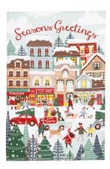 Christmas Shopping 100% linen tea towel from Ulster Weavers.