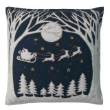 Jan Constantine Christmas Eve hand-embroidered felt cushion.