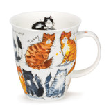Messy Cats Dunoon bone china mug in the Nevis Shape