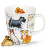 Messy Dogs Dunoon bone china mug in the Nevis Shape
