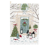 Sophie Allport Home for Christmas Holly & Berry Tea Towel