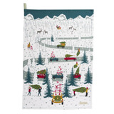 Sophie Allport Home for Christmas Car Scene Tea Towel