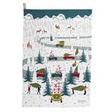 Sophie Allport Home for Christmas Car Scene Tea Towel