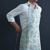 Organic cotton golden retriever apron from Sweet William Designs.