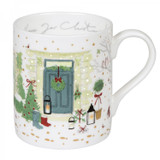 Sophie Allport Holly & Berry Home for Christmas Mug boxed