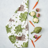 Thornback & Peel Rabbit & Cabbage 100% Cotton Tea Towel