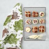 Thornback & Peel Rabbit & Cabbage 100% Cotton Tea Towel
