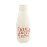 Pink Toast True Love & Roses Large Milk Bottle