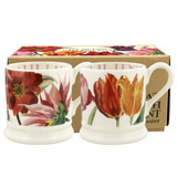 Flowers set of 2 1/2 pint mugs (boxed)