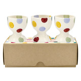 Polka Dot Set of 3 Egg Cups Boxed