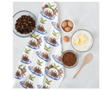 Thornback & Peel Christmas Pudding 100% Cotton Tea Towel