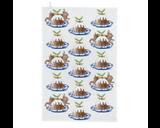 Thornback & Peel Christmas Pudding 100% Cotton Tea Towel