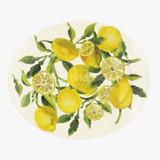 Vegetable Garden Lemons Oval platter- Handmade in England.