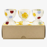 Emma Bridgewater Buttercup Scattered Set of 3 Egg Cups. Handmade in England.