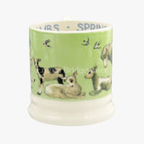 Bright New Morning Spring Lambs 1/2 Pint Mug. Handmade in England.