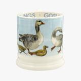 Bright New Morning Goose & Goslings 1/2 Pint Mug. Handmade in England.