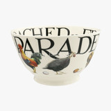Rise & Shine Poultry on Parade Medium Old Bowl.