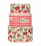 Emma Bridgewater Set of 3 Strawberries Cake Tins