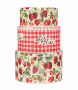 Emma Bridgewater Set of 3 Strawberries Cake Tins