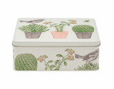 Cactus and Bird Deep Rectangular Tin