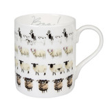 Sophie Allport bone china Sheep Baa! mug boxed.