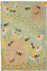 Daisy Bees 100% Cotton tea towel by Ulster Weavers.