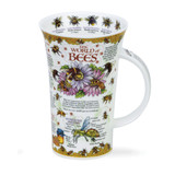Dunoon fine bone china World of Bees mug in the Glencoe shape. Handmade in England.
