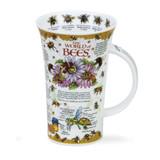 Dunoon fine bone china World of Bees mug in the Glencoe shape. Handmade in England.