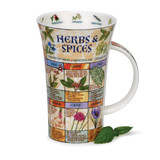 Dunoon fine bone china Herbs & Spices mug in the Glencoe shape. Handmade in England.