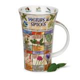 Dunoon fine bone china Herbs & Spices mug in the Glencoe shape. Handmade in England.