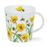 Fine bone China Busy Bees Buttercup mug in Dunoon's Cairngorm shape.