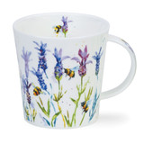 Fine bone China Busy Bees Lavender mug in Dunoon's Cairngorm shape.