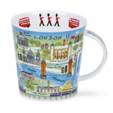 Fine bone China London Map mug in Dunoon's Cairngorm shape.