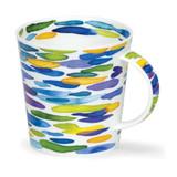 Fine Bone china Cairngorm Slapdash Blue Mug