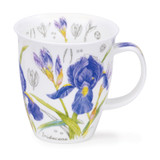 Fine bone china Nevis Floral Sketch Iris Mug