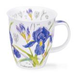 Fine bone china Nevis Floral Sketch Iris Mug