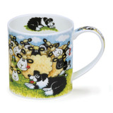 Dunoon Orkney Silly Sheep Flock bone china mug.