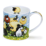 Dunoon Orkney Silly Sheep Brown bone china mug.