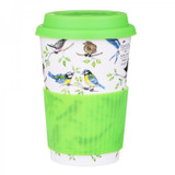 Bone china travel mug from Dunoon - Garden Birds.