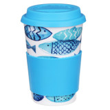 Bone china travel mug from Dunoon - Go Fish.