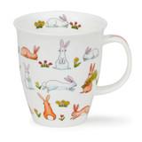 Bunnies Dunoon bone china mug in the Nevis Shape