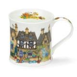 Fine bone chine Wessex Cottage Row Mugs - Stone
