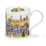 Fine bone chine Wessex Cottage Row Mugs - Thatch