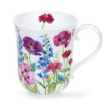 Dunoon Fine Bone China Braemar Cottage Flowers Mug - Purple.